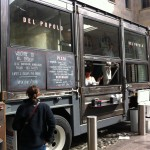 Del Popolo Pizza Truck - mobile pizzeria on Mint Plaza that day. Tasty rustic Neapolitan-style pizza.