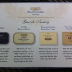 Domaine Carneros Winery - our wine tasting flight.