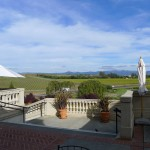 Domaine Carneros Winery - endless vineyard-covered hills. NE view.