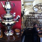 Samovar Tea  Lounge - on the left is the samovar that made my tea.